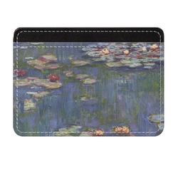 Water Lilies by Claude Monet Genuine Leather Front Pocket Wallet