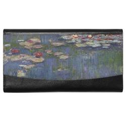Water Lilies by Claude Monet Genuine Leather Ladies Wallet