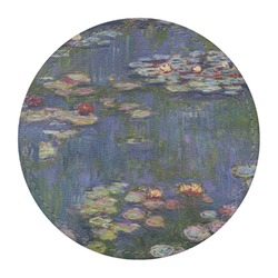 Water Lilies by Claude Monet Round Desk Weight - Genuine Leather