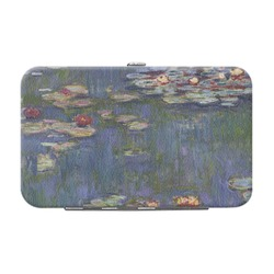 Water Lilies by Claude Monet Genuine Leather Small Framed Wallet