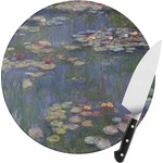 Water Lilies by Claude Monet Round Glass Cutting Board
