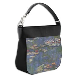 Water Lilies by Claude Monet Hobo Purse w/ Genuine Leather Trim
