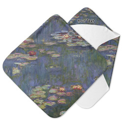 Water Lilies by Claude Monet Hooded Baby Towel