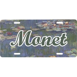 Water Lilies by Claude Monet Front License Plate