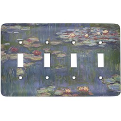 Water Lilies by Claude Monet Light Switch Cover (4 Toggle Plate)
