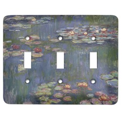 Water Lilies by Claude Monet Light Switch Cover (3 Toggle Plate)