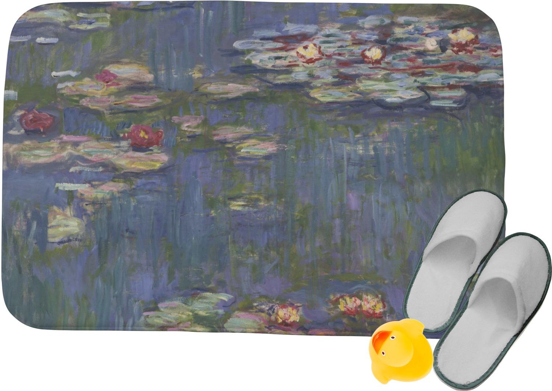 Memory Foam Water Lily.Water Lilies By Claude Monet Memory Foam Bath Mat