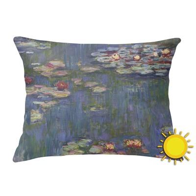 Water Lilies by Claude Monet Outdoor Throw Pillow (Rectangular)