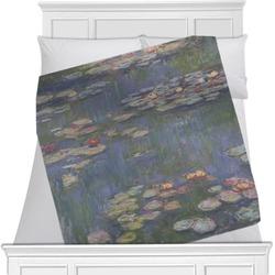 "Water Lilies by Claude Monet Fleece Blanket - Queen / King - 90""x90"" - Double Sided"