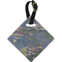 Water Lilies by Claude Monet Diamond Luggage Tag