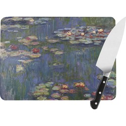 Water Lilies by Claude Monet Rectangular Glass Cutting Board