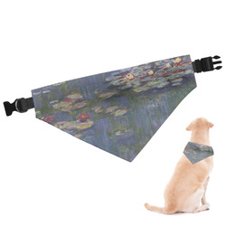Water Lilies by Claude Monet Dog Bandana - Small