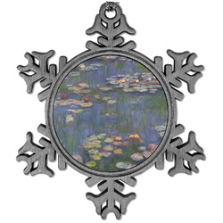Water Lilies by Claude Monet Vintage Snowflake Ornament