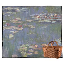 Water Lilies by Claude Monet Outdoor Picnic Blanket