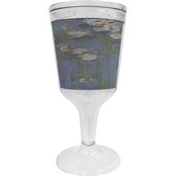 Water Lilies by Claude Monet Wine Tumbler - 11 oz Plastic