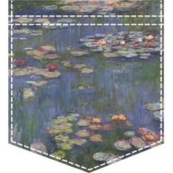 Water Lilies by Claude Monet Iron On Faux Pocket