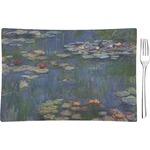 Water Lilies by Claude Monet Glass Rectangular Appetizer / Dessert Plate - Single or Set