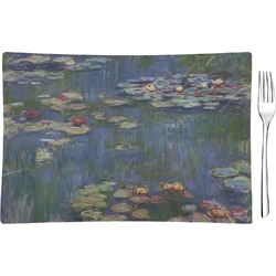 Water Lilies by Claude Monet Glass Rectangular Appetizer / Dessert Plate - Single or Set