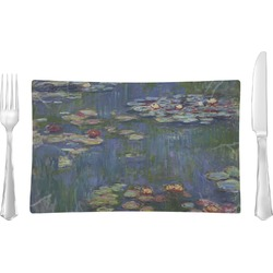 Water Lilies by Claude Monet Rectangular Glass Lunch / Dinner Plate - Single or Set