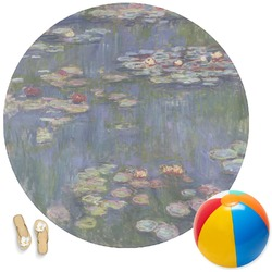 Water Lilies by Claude Monet Round Beach Towel