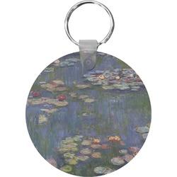 Water Lilies by Claude Monet Round Keychain