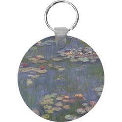 Water Lilies by Claude Monet Round Keychain
