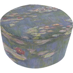 Water Lilies by Claude Monet Round Pouf Ottoman