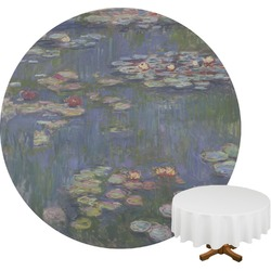 Water Lilies by Claude Monet Round Tablecloth