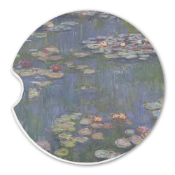 Water Lilies by Claude Monet Sandstone Car Coaster - Single