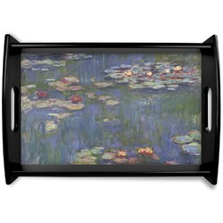 Water Lilies by Claude Monet Black Wooden Tray