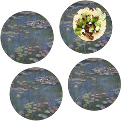 """Water Lilies by Claude Monet Set of 4 Glass Lunch / Dinner Plate 10"""""""