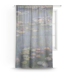 Water Lilies by Claude Monet Sheer Curtains