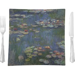 Water Lilies by Claude Monet Glass Square Lunch / Dinner Plate 9.5