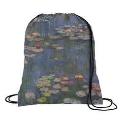Water Lilies by Claude Monet Drawstring Backpack