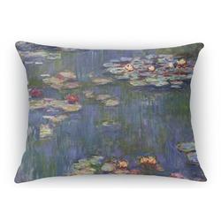 Water Lilies by Claude Monet Rectangular Throw Pillow Case