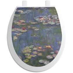 Water Lilies by Claude Monet Toilet Seat Decal - Round