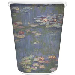 Water Lilies by Claude Monet Waste Basket - Double Sided (White)
