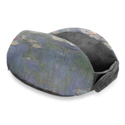 Water Lilies by Claude Monet Travel Neck Pillow