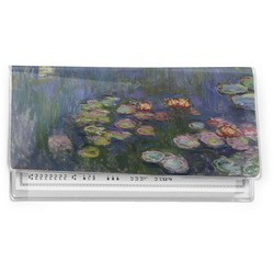 Water Lilies by Claude Monet Vinyl Checkbook Cover