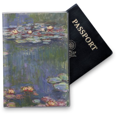 Water Lilies by Claude Monet Vinyl Passport Holder