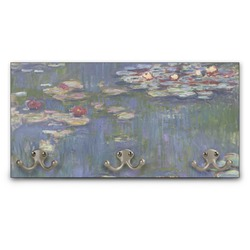 Water Lilies by Claude Monet Wall Mounted Coat Rack
