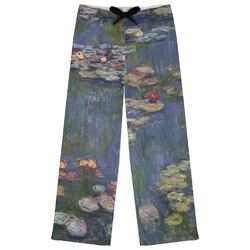 Water Lilies by Claude Monet Womens Pajama Pants