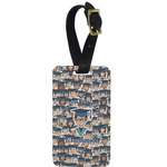Graduating Students Metal Luggage Tag w/ Name or Text