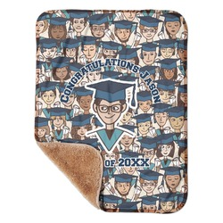 """Graduating Students Sherpa Baby Blanket 30"""" x 40"""" (Personalized)"""