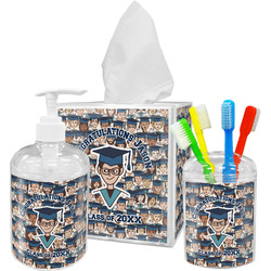 Graduating Students Acrylic Bathroom Accessories Set w/ Name or Text