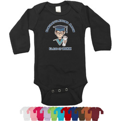 Graduating Students Bodysuit - Long Sleeves - 0-3 months (Personalized)