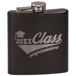 Graduating Students Black Flask Set (Personalized)