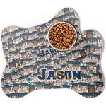 Graduating Students Bone Shaped Dog Food Mat (Personalized)