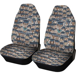 Graduating Students Car Seat Covers (Set of Two) (Personalized)