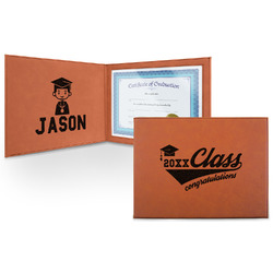 Graduating Students Leatherette Certificate Holder (Personalized)